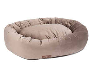 Vintage Oak Plush Velour Hypo-Allergenic Eco-Friendly Donut Dog Bed