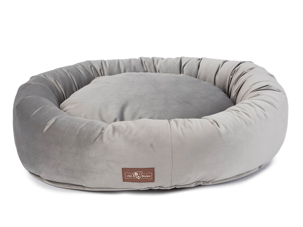 Vintage Seal Plush Velour Hypo-Allergenic Eco-Friendly Donut Dog Bed