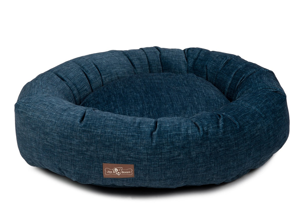 Denim Designer Dirt/Stain-Resistant Eco-Friendly Donut Dog Bed
