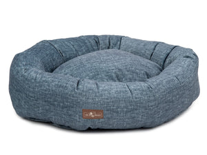 Stonewash Designer Hypo-Allergenic Eco-Friendly Donut Dog Bed