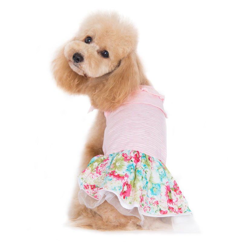 Dreamy Floral Pink Designer Dog Dress