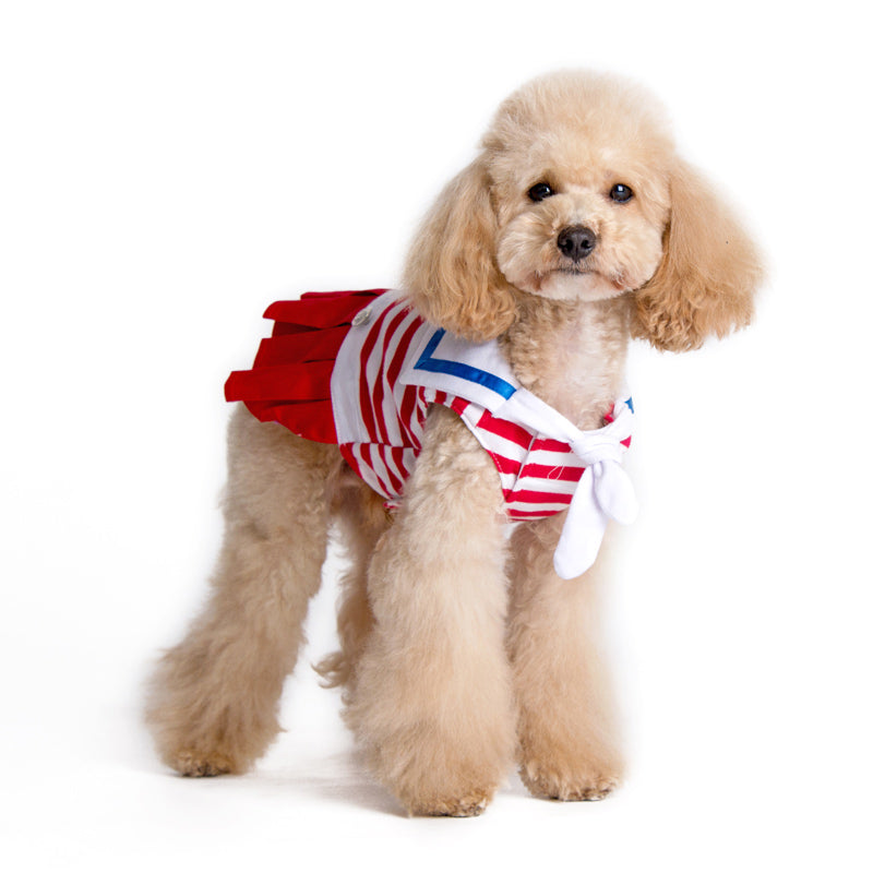 Easy-D Nautical Sailor Naval Designer Dog Dress