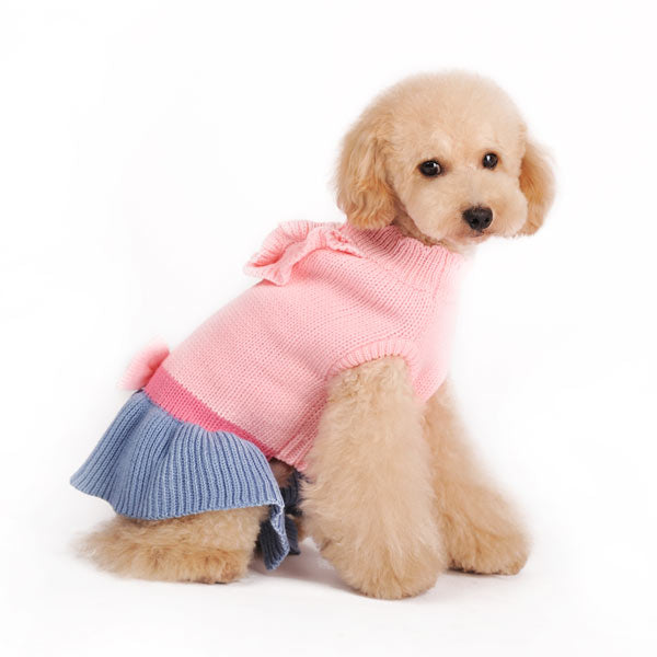 Elegant Lady Sweater Designer Dog Dress