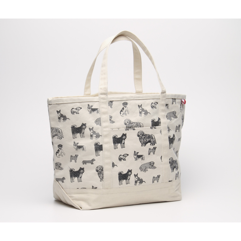 Dog Print Classic Shoulder Bag