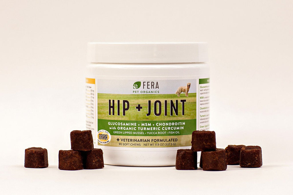 Fera Pet Organic Hip + Joint Health Supplement for Dogs (90 Soft Chews)