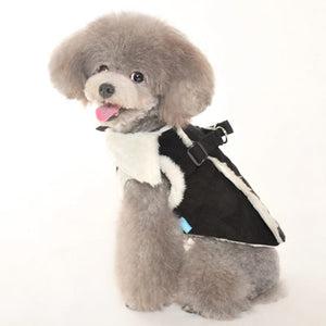 Winter Vest Furry Sherpa Faux Fur Harness Warm Designer Dog Coat Jacket
