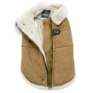 Furry Runner Warm-Insulated Faux Fur Lining Full Coverage Designer Dog Jacket Coat
