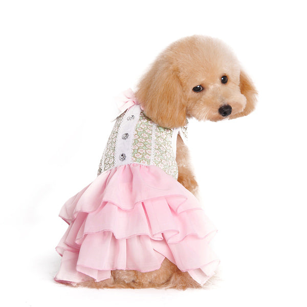 Gatsby Pastel Pink Designer Dog Dress