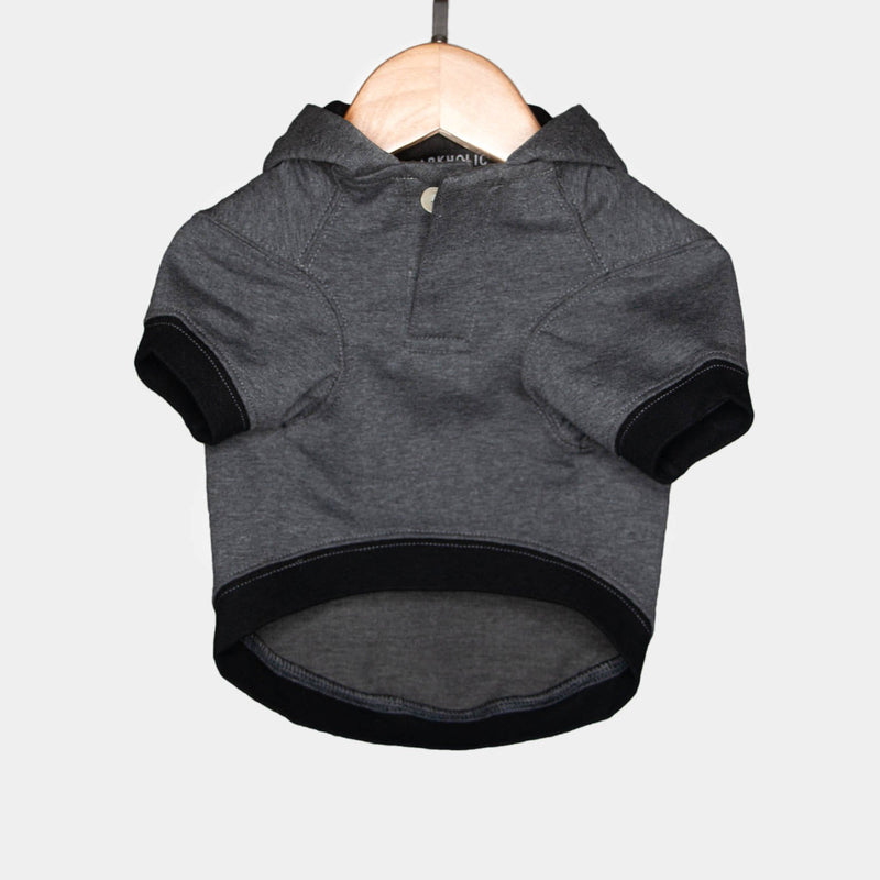 Gray Hoodie Barkholic Organic Cotton Modern Dog Shirt