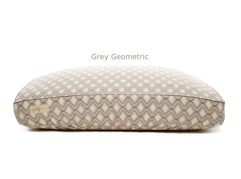 Grey Geometric Deluxe Fitted Linen Cover for B&G Martin Pet Beds