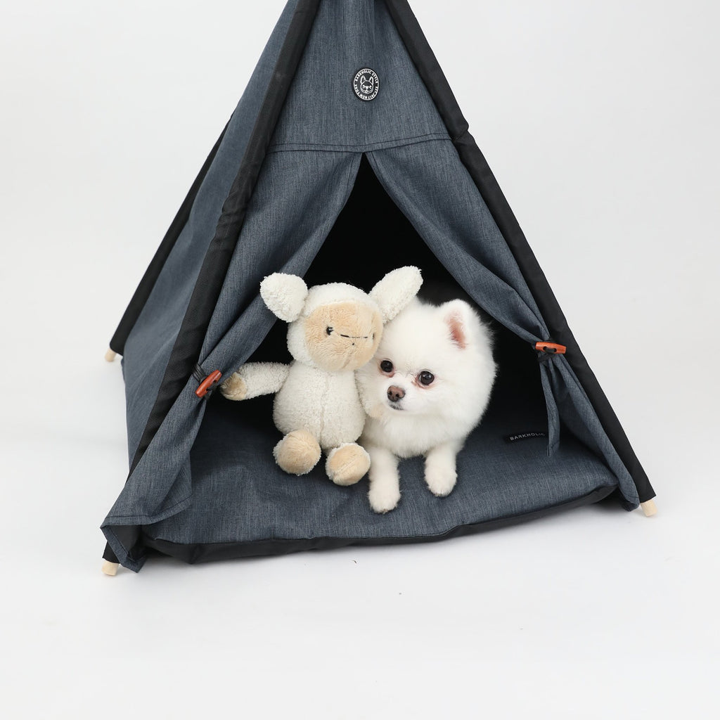 Harbor Barkholic Indoor / Outdoor Waterproof Dog Bed Teepee
