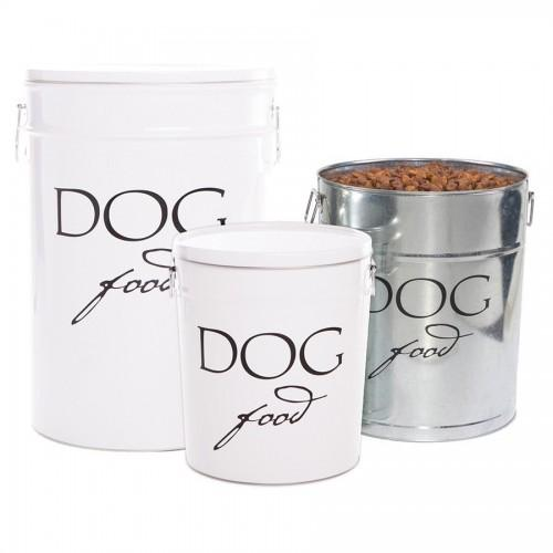 Harry Barker Designer Steel Classic Dog Food Kibble Bin Storage Canister - FDA Approved
