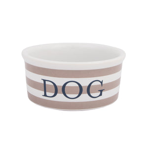 Harry Barker Vintage Stripe Ceramic Stoneware FDA Approved Designer Dog Food Feeder Bowl