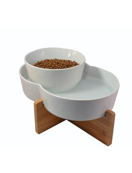 Highwave Designer Lead-Free Porcelain Lagoon Pet Cat & Dog Food / Water Bowls
