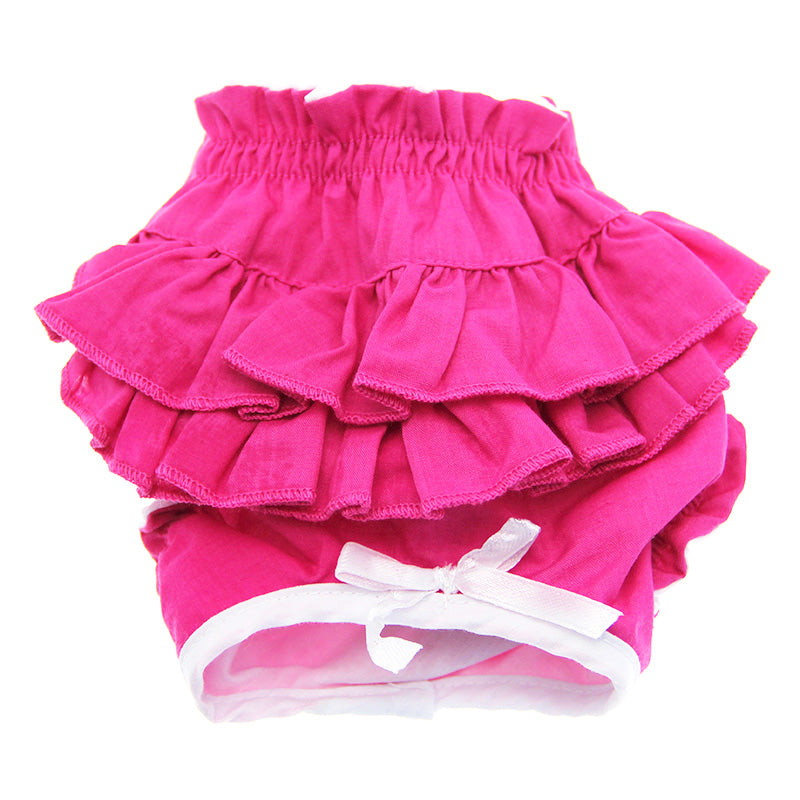 Ruffled Solid Pink Dog Panties