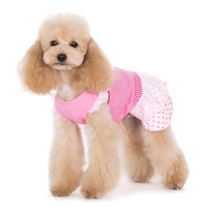 Ice Cream Pink Designer Dog Dress