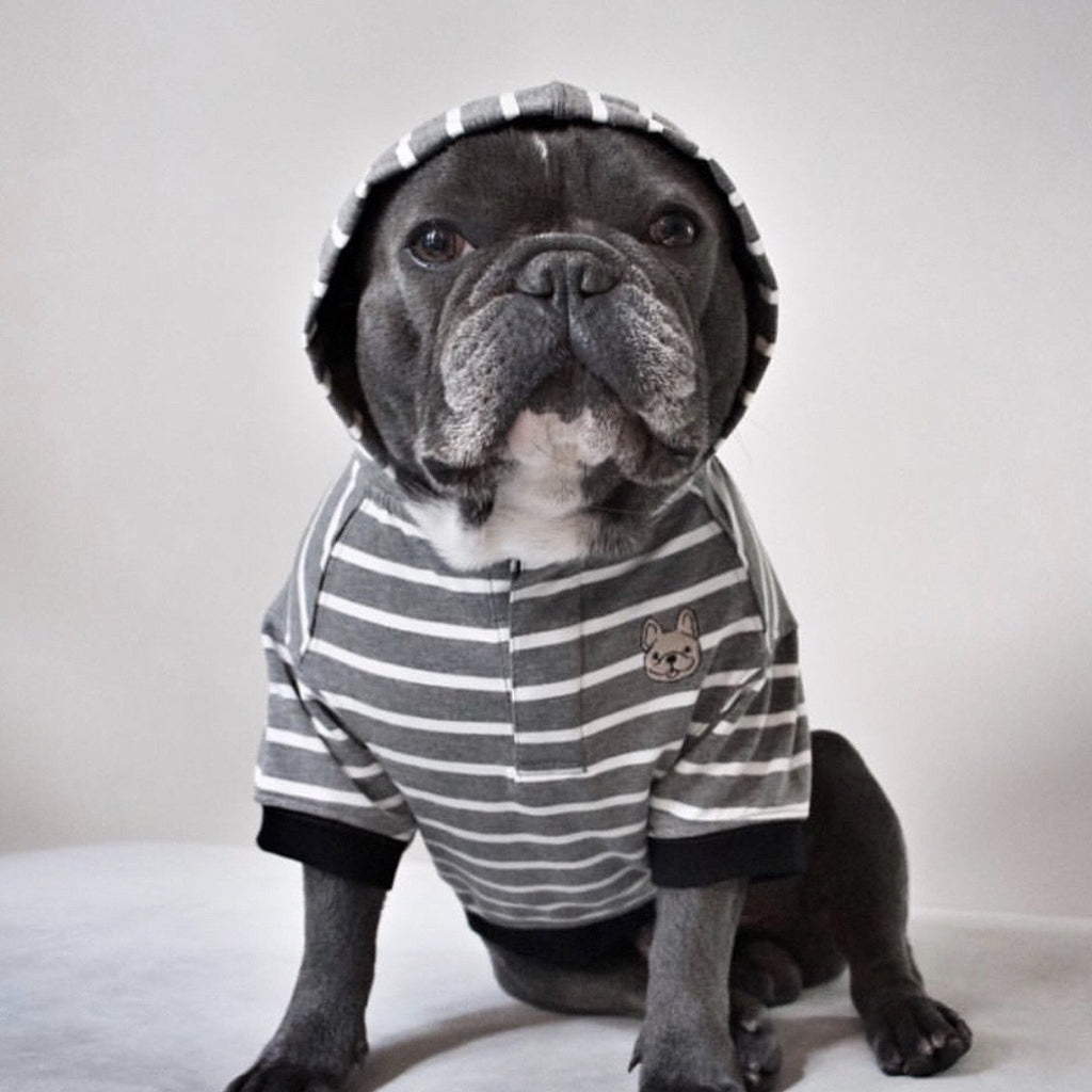 Grayson Stripes Hoodie Barkholic Organic Cotton Dog Shirt