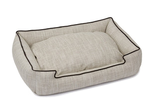 Newport Wood Textured Woven Luxury Lounge Hypo-Allergenic Dog Bed