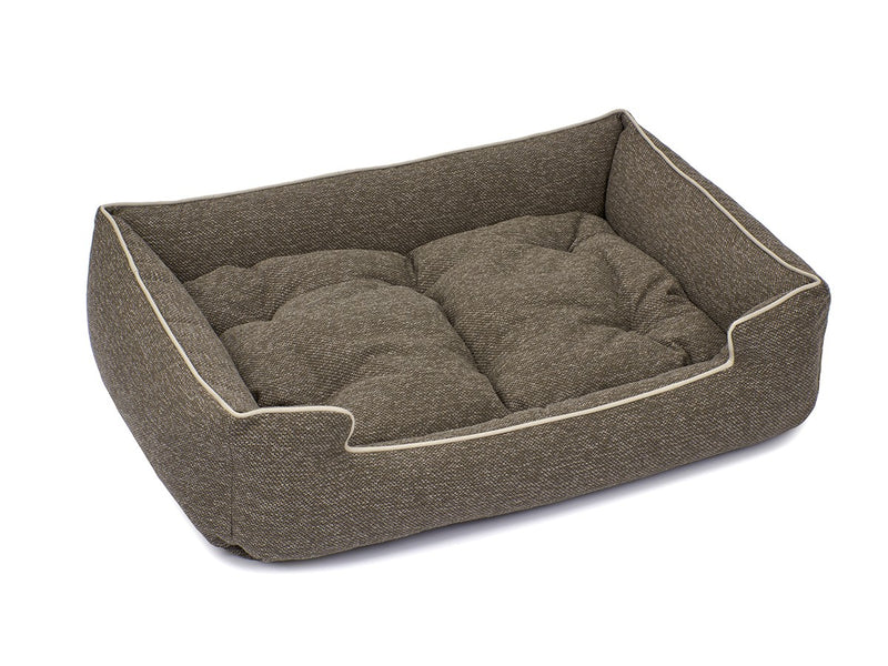 Loop Stone Crushed Velvet Hypo-Allergenic Joint Support Sleeper Dog Bed