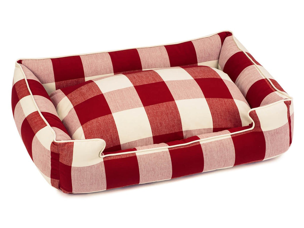 Buffalo Check Crimson Lounge Luxury Hypo-Allergenic Dog Bed