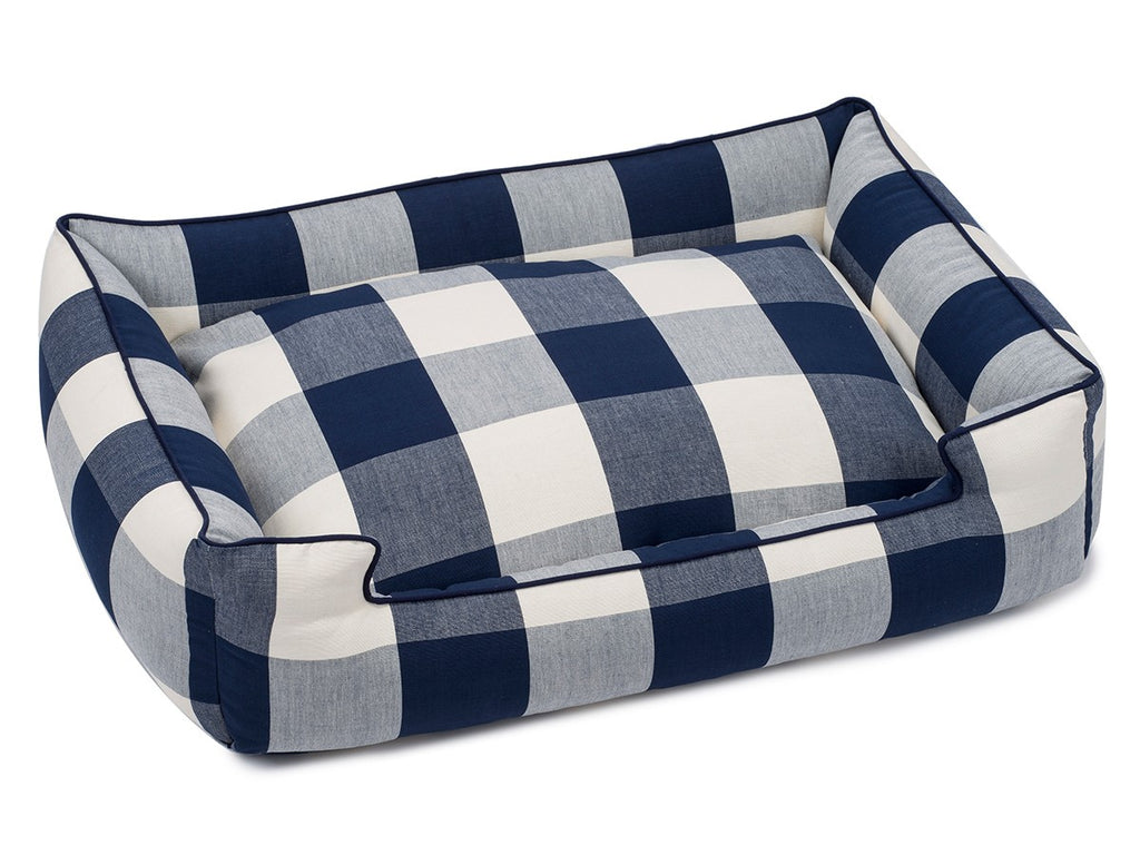 Buffalo Check Navy Lounge Luxury Hypo-Allergenic Dog Bed