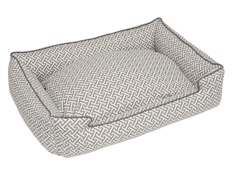 Hera Grey Cotton/Poly Lounge Luxury Hypo-Allergenic Heavy-Weight High Traffic Dog Bed
