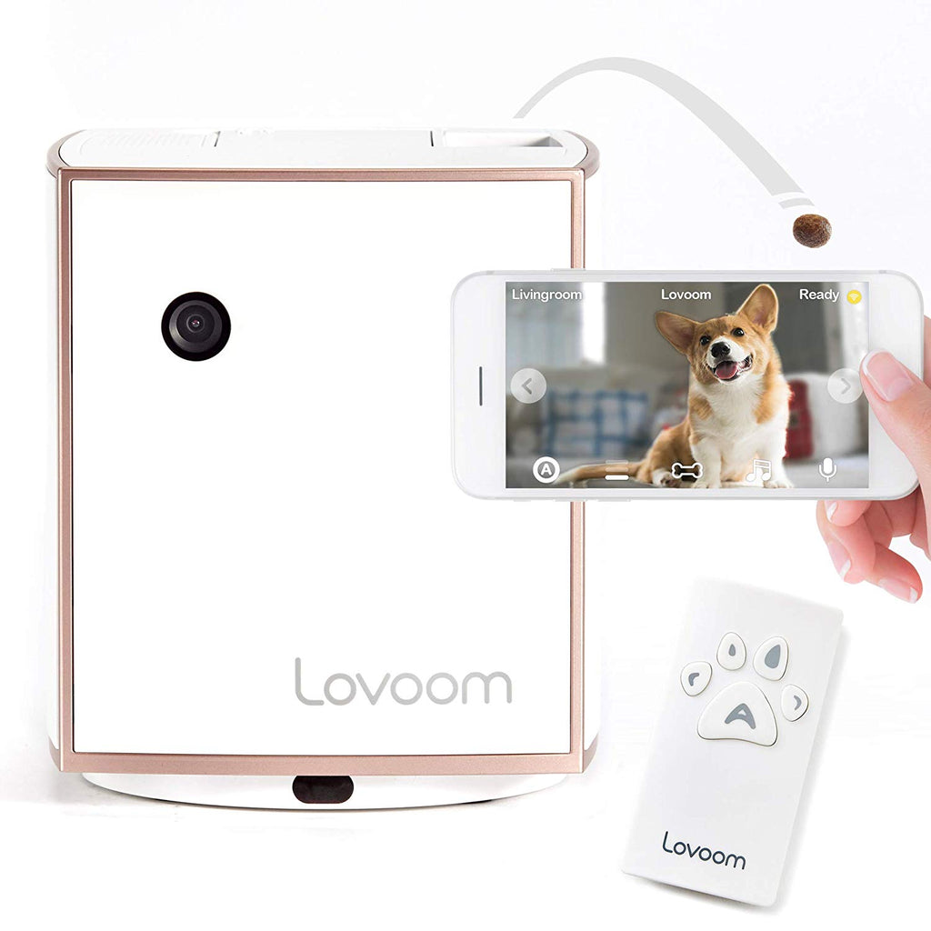 Lovoom Smart Kibble Tossing Wifi HD Pet Monitoring Camera