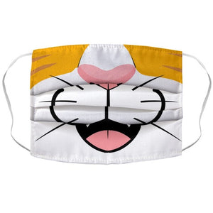 Cat Mouth COVID-19 Corona Virus Face Mask Cover