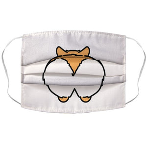 Corgi Butt Parody COVID-19 Corona Virus Face Mask Cover