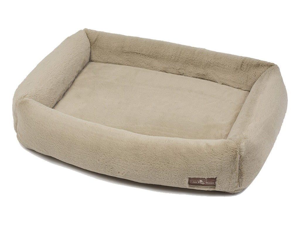 Mink Creme NASA Grade Memory Foam Water-Resistant Cuddler Dog Bed