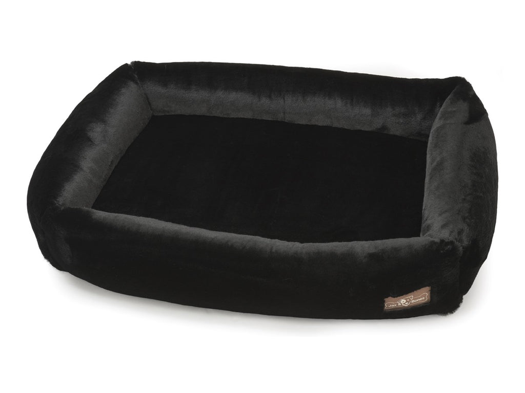 Mink Black NASA Grade Memory Foam Water-Resistant Cuddler Dog Bed