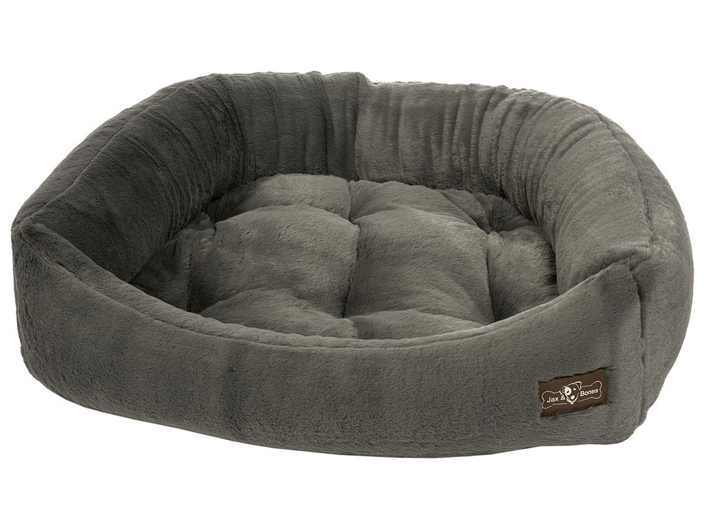 Mink Grey Hypo-Allergenic Bolster Napper Hybrid Joint Support Dog Bed