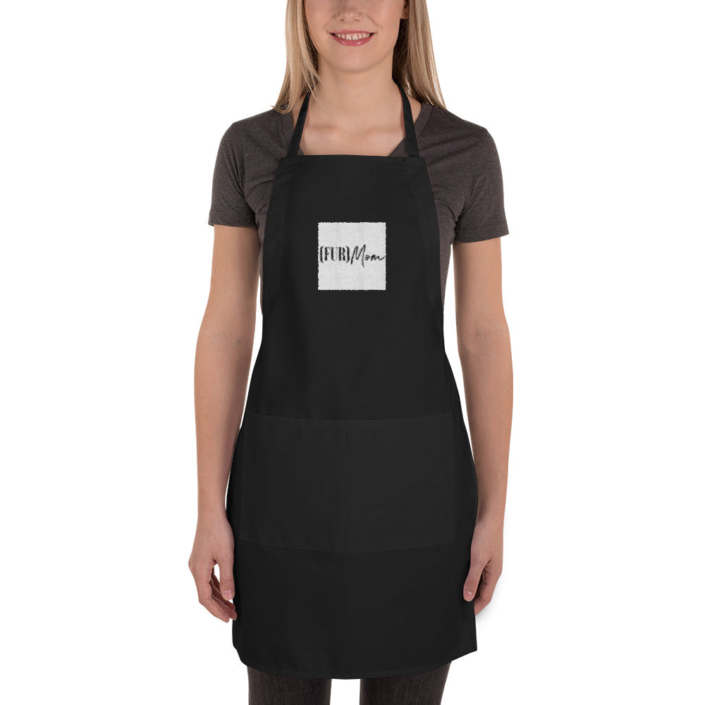 Embroidered '(FUR)Mom' Cooking Women's Apron for Cat & Dog Moms