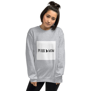 PURR MOM Pre-Shrunk Classic Fit Kitty Cat-Inspired Warm Soft & Cozy Women's Sweater Sweatshirt