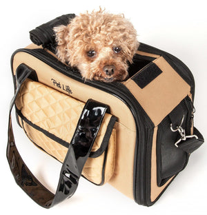 Mystique Airline Approved Fashion Designer Travel Pet Dog Carrier w/ Pouch