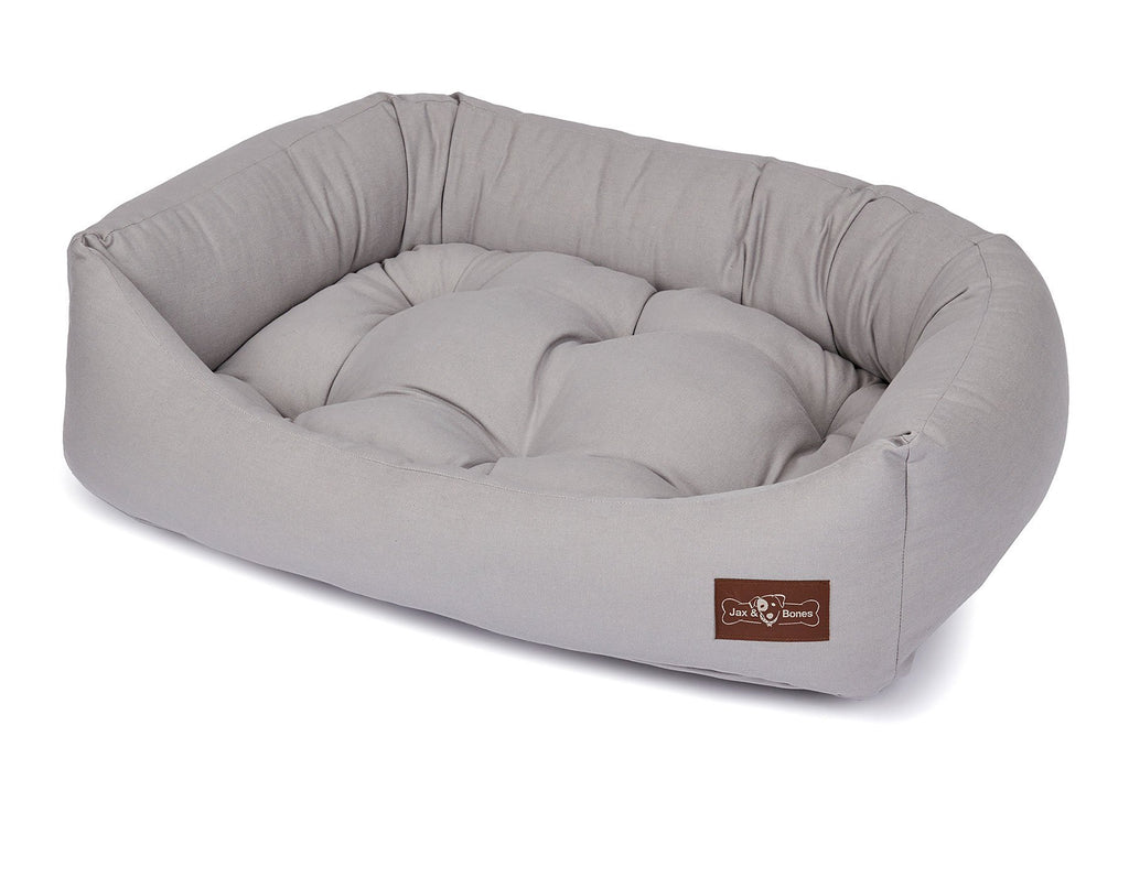 Levi Grey Bolster Napper Joint Support Dog Bed