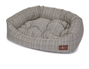 Rail Domino Textured Woven Bolster Napper Joint Support Dog Bed