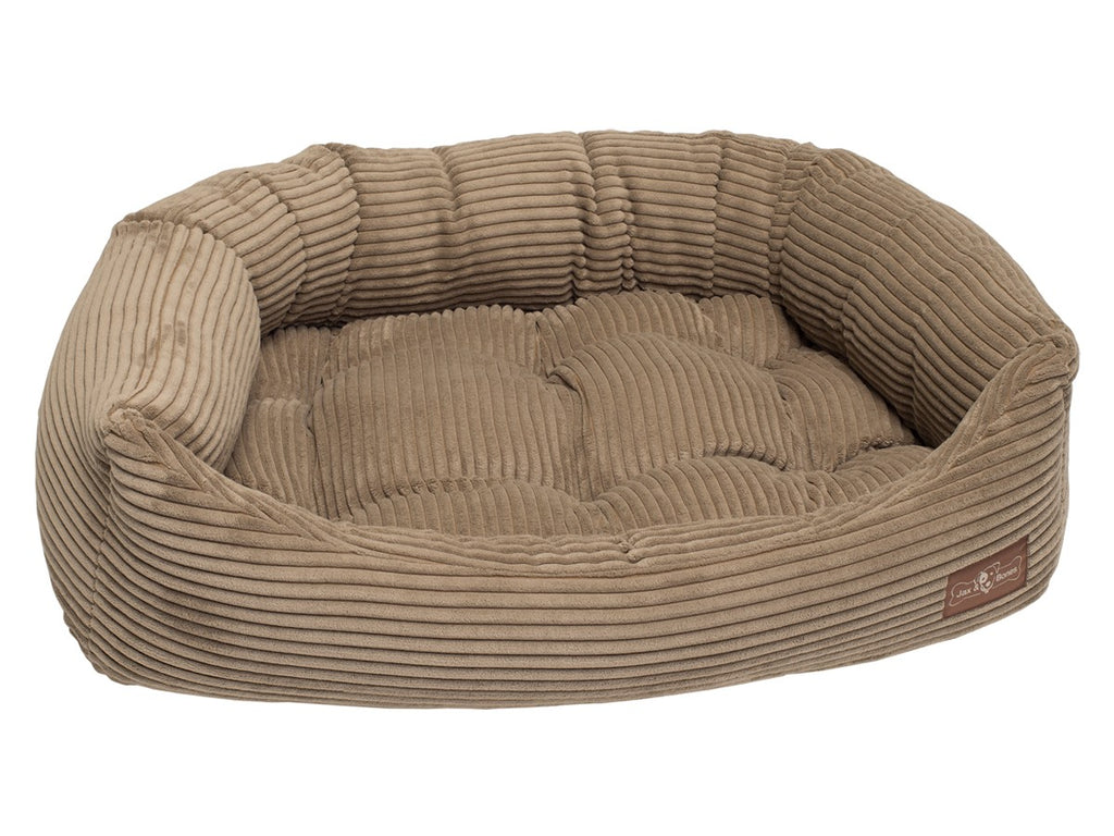 Honey Corduroy Hypo-Allergenic Bolster Napper Hybrid Joint Support Dog Bed