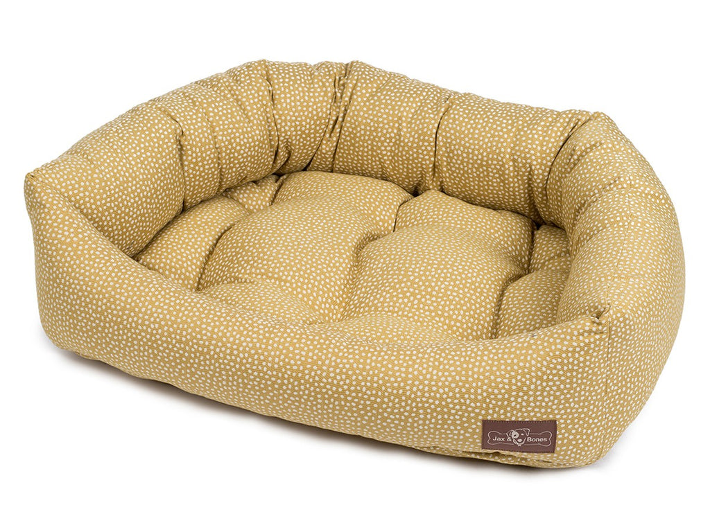 Flicker Maize Hypo-Allergenic Bolster Napper Hybrid Joint Support Dog Bed