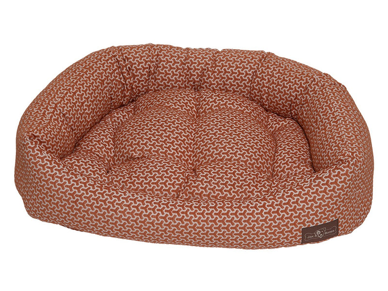 Eve Orange Hypo-Allergenic Bolster Napper Hybrid Joint Support Dog Bed