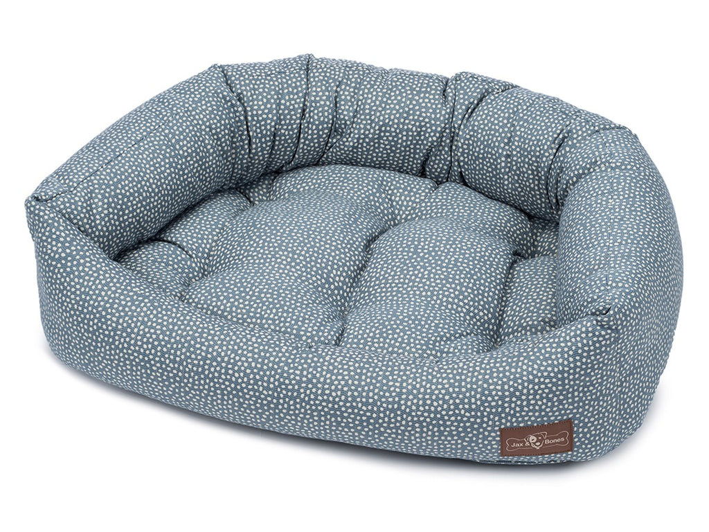 Flicker Cornflower Hypo-Allergenic Bolster Napper Hybrid Joint Support Dog Bed