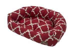 Monaco Scarlet Hypo-Allergenic Bolster Napper Hybrid Joint Support Dog Bed