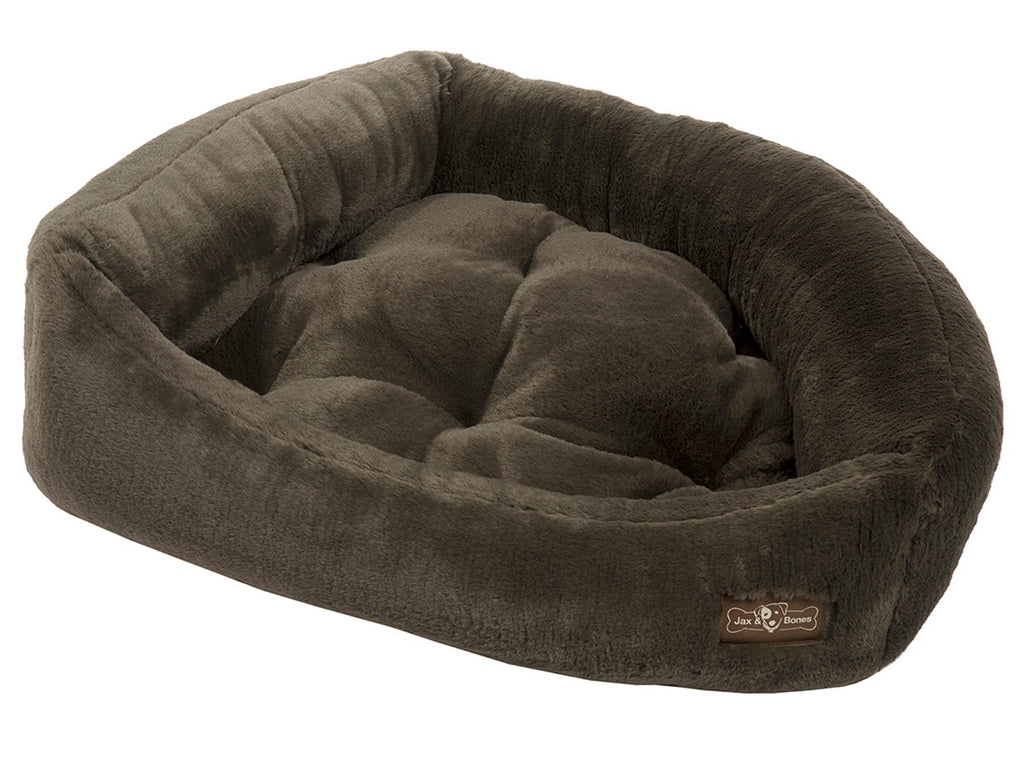 Mink Black Hypo-Allergenic Bolster Napper Hybrid Joint Support Dog Bed