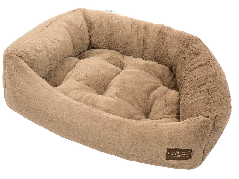 Mink Creme Hypo-Allergenic Bolster Napper Hybrid Joint Support Dog Bed