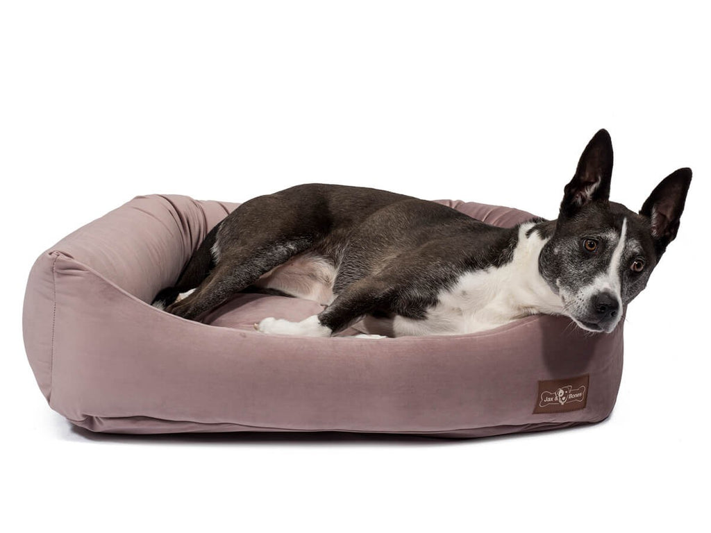 Vintage Mauve Hypo-Allergenic Bolster Napper Joint Support Dog Bed