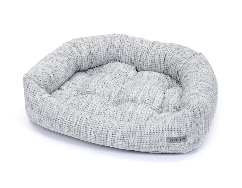 Torino Light Soft Plush Velour Luxury Bolster Napper Semi-Circular Designer Dog Bed