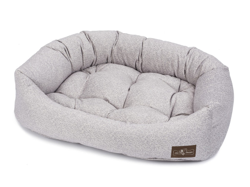 Herringbone Hypo-Allergenic Bolster Napper Joint Support Dog Bed