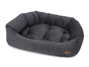 Herringbone Twilight Bolster Napper Joint Support Dog Bed