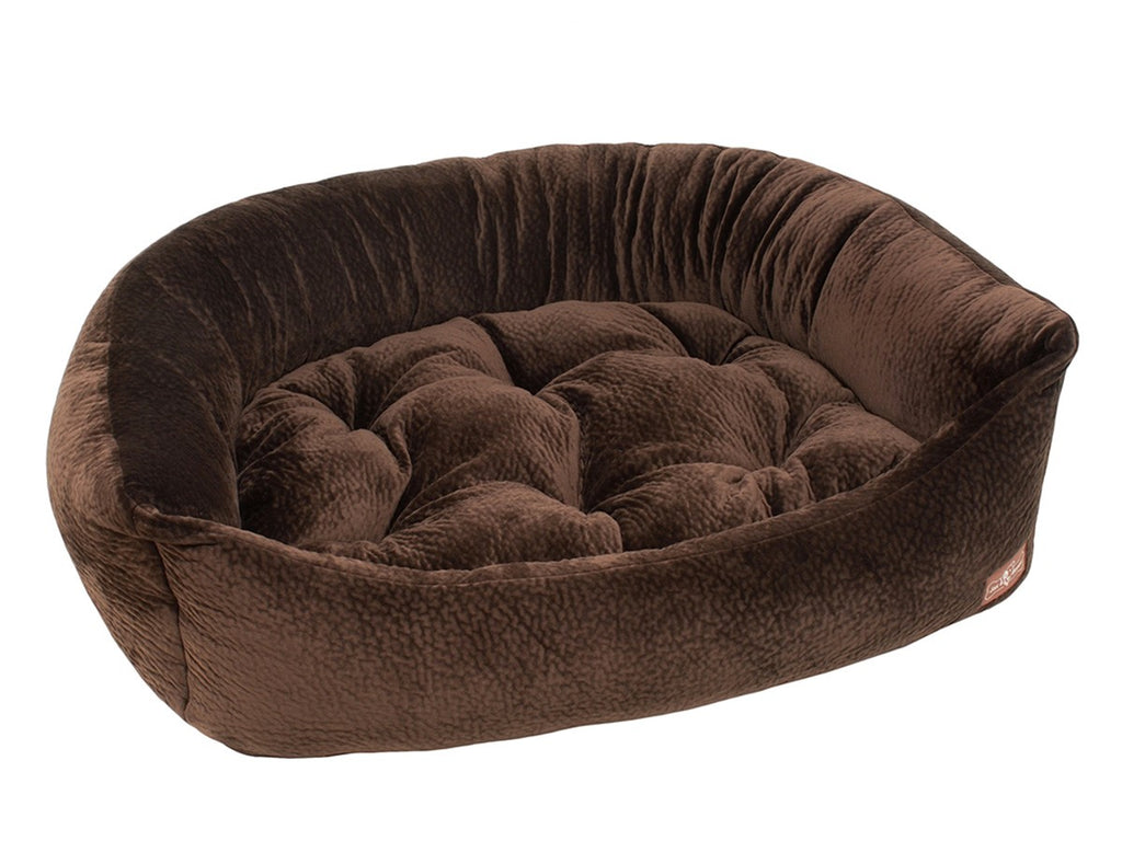 Chestnut Hypo-Allergenic Bolster Napper Hybrid Joint Support Dog Bed