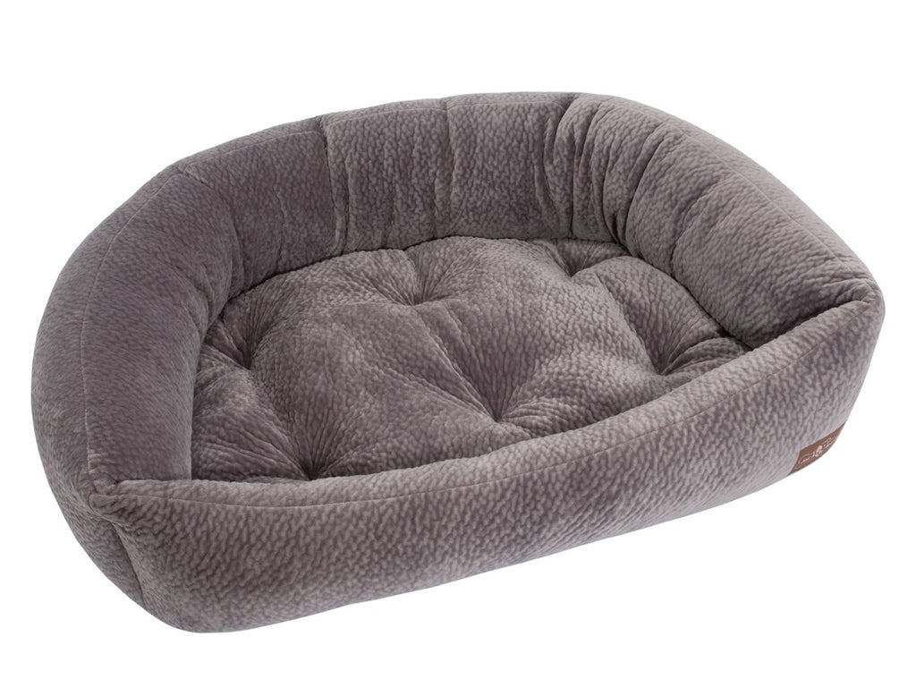 Silver Hypo-Allergenic Bolster Napper Hybrid Joint Support Dog Bed